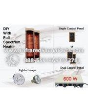 600 W, DIY Infrared Sauna Kit, WHITE CERAMIC