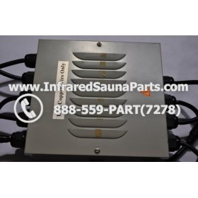 COMPLETE CONTROL POWER BOX 110V / 120V - COMPLETE CONTROL POWER BOX 110V  120V SUNTECH INFRARED SAUNA WITH 8 HEATER PLUGS v2 7