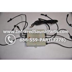 COMPLETE CONTROL POWER BOX 110V / 120V - COMPLETE CONTROL POWER BOX 110V  120V SUNTECH INFRARED SAUNA WITH 8 HEATER PLUGS v2 1