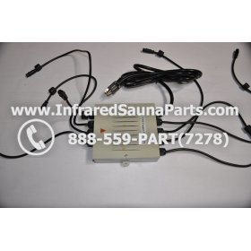 COMPLETE CONTROL POWER BOX 110V / 120V - COMPLETE CONTROL POWER BOX 110V  120V SUNTECH INFRARED SAUNA WITH 8 HEATER PLUGS v2 8