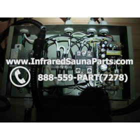 COMPLETE CONTROL POWER BOX 110V / 120V - COMPLETE CONTROL POWER BOX 110V  120V SUNTECH INFRARED SAUNA WITH 8 HEATER PLUGS v2 12