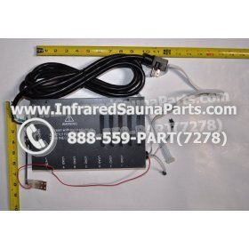 COMPLETE CONTROL POWER BOX 110V / 120V - COMPLETE CONTROL POWER BOX 110V  120V WITH 7 CIRCUIT BOARD PINS  6 FEMALE PLUGS SUPPLY WORLD INFRARED SAUNA 27