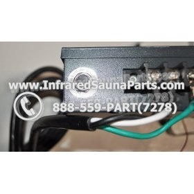 COMPLETE CONTROL POWER BOX 110V / 120V - COMPLETE CONTROL POWER BOX 110V  120V WITH 7 CIRCUIT BOARD PINS  6 FEMALE PLUGS SUPPLY WORLD INFRARED SAUNA 29