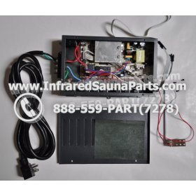 COMPLETE CONTROL POWER BOX 110V / 120V - COMPLETE CONTROL POWER BOX 110V  120V WITH 7 CIRCUIT BOARD PINS  6 FEMALE PLUGS SUPPLY WORLD INFRARED SAUNA 13