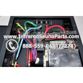 COMPLETE CONTROL POWER BOX 110V / 120V - COMPLETE CONTROL POWER BOX 110V  120V WITH 7 CIRCUIT BOARD PINS  6 FEMALE PLUGS SUPPLY WORLD INFRARED SAUNA 31