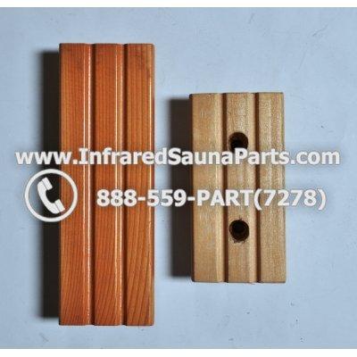 WOOD HANDLES + TOWEL HANDLES - HEMLOCK WOOD DOOR HANDLE STYLE 1 1