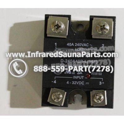 RELAYS / SOLID RELAYS - RELAYS  SOLID RELAY D-240A 40-L555 40AMP 1