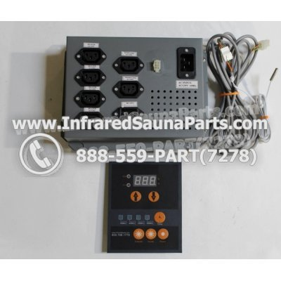 COMPLETE CONTROL POWER BOX WITH CONTROL PANEL - COMPLETE CONTROL POWER BOX  INFRARED SAUNA 110v 120v WITH ONE CONTROL PANEL UNIVERSAL 1