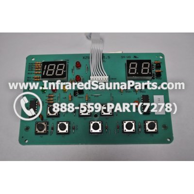 CIRCUIT BOARDS / TOUCH PADS - CIRCUIT BOARD  TOUCHPAD  HYDRA INFRARED SAUNA XZSN1DB V1.5 1