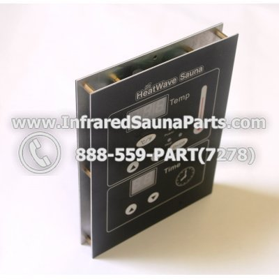 CIRCUIT BOARDS WITH  FACE PLATES - CIRCUIT BOARD WITH FACE PLATE  HEATWAVE INFRARED SAUNA  MANUAL ON OFF SWITCH DUAL SIDE 1