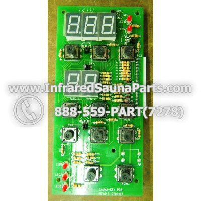 CIRCUIT BOARDS / TOUCH PADS - CIRCUIT BOARD  TOUCHPAD  KEYSBACKYARD INFRARED SAUNA PCB REV 0.3 070910 A 1