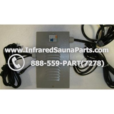 COMPLETE CONTROL POWER BOX 110V / 120V - COMPLETE CONTROL POWER BOX 110V / 120V DELUXE INFRARED SAUNA WITH 8 FEMALE PLUGS 1