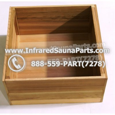 WOOD STEREO HOUSINGS - HEMLOCK WOOD BOX FOR UNIVERSAL COMPLETE CONTROL POWER BOX 1