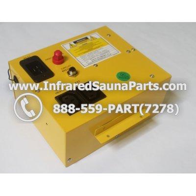 COMPLETE CONTROL POWER BOX 110V / 120V - COMPLETE CONTROL POWER BOX 110V / 120V CLEARLIGHT INFRARED SAUNA  MODEL HM-PCS1(REV.B) 1