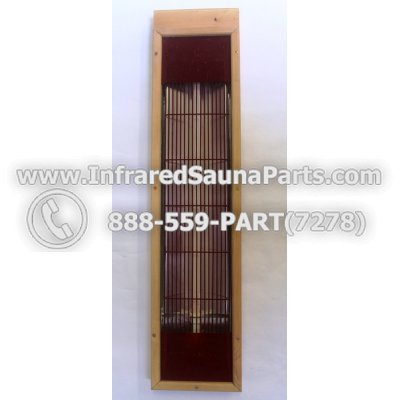INFRARED SAUNA HEATER WITH HOUSING / COMPLETE ASSEMBLY IN RED - INFRARED SAUNA HEATER WITH HOUSING / COMPLETE ASSEMBLY IN RED 25.5 INCH 1