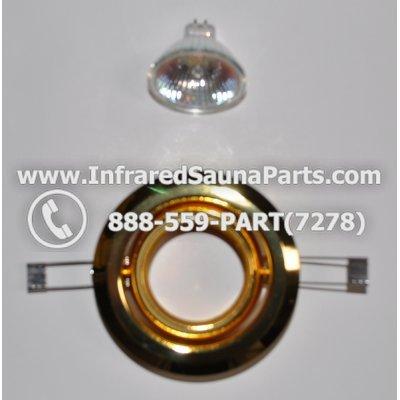 COMPLETE LIGHT ASSEMBLY 220V / 240V - COMPLETE LIGHT ASSEMBLY 1 HOUSING IN GOLD FINISH WITH 1 BULB 220V / 240V 1