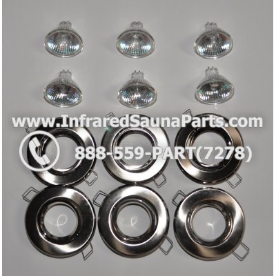 COMPLETE LIGHT ASSEMBLY 110V / 120V - COMPLETE LIGHT ASSEMBLY 6 HOUSING IN SILVER FINISH WITH 6 BULBS 110V / 120V 1