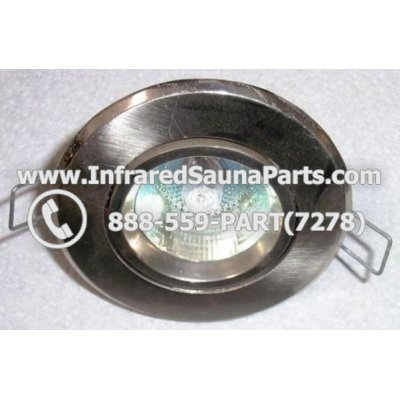 COMPLETE LIGHT ASSEMBLY 110V / 120V - COMPLETE LIGHT ASSEMBLY IN SILVER FINISH WITH BULB 110V / 120V 1
