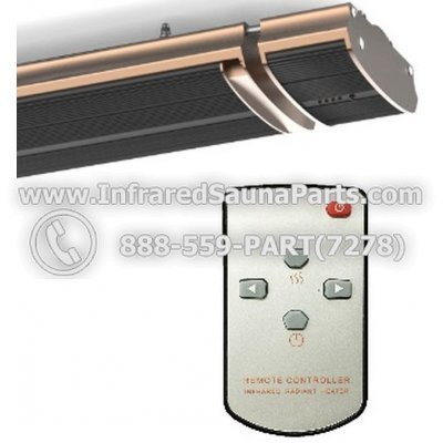 ENLIGHTEN FAR INFRARED E-HEATERS 1500-SERIES 110V / 120V - ENLIGHTEN FAR INFRARED E-HEATER-NR18-15B WITH REMOTE CONTROLLER 1
