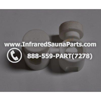 INFRARED SAUNA HEATER ACCESSORIES  - INFRARED SAUNA CERAMIC HEATER END CAPS AND TIP COMPLETE SET FOR 1 CERAMIC HEATER 1