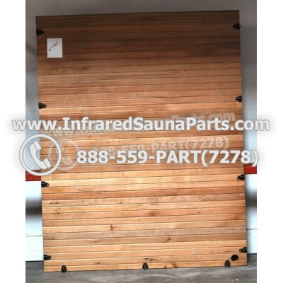 "WOOD SAUNA WALLS - HEMLOCK WOOD SAUNA PANEL ( 71"" x 56.6"" ) 1"