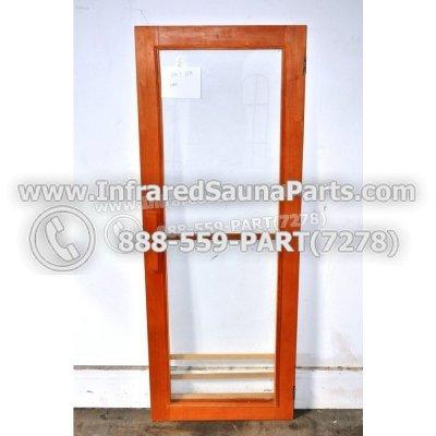 """WOOD DOORS + GLASS DOORS - HEMLOCK WOOD DOOR ( 23.8"""" x 62.7"""" ) 1"""