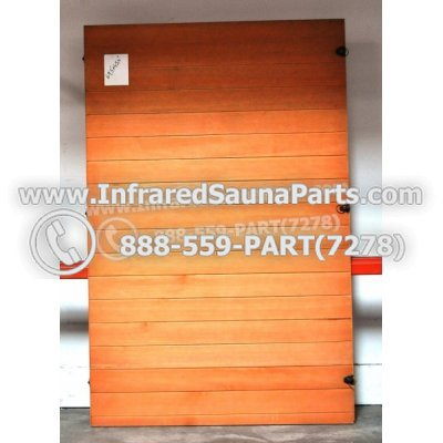"WOOD SAUNA WALLS - HEMLOCK WOOD SAUNA PANEL ( 69.5"" x 45.4"" ) 1"