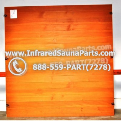 "WOOD SAUNA WALLS - HEMLOCK WOOD SAUNA PANEL ( 69.5"" x 67.5"" ) 1"