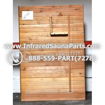 "WOOD SAUNA WALLS - HEMLOCK WOOD SAUNA PANEL ( 46.2"" x 31.5"" ) 1"