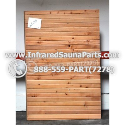 "WOOD SAUNA WALLS - HEMLOCK WOOD SAUNA PANEL ( 46.2"" x 31.5"" ) L 1"