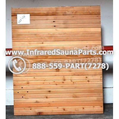 "WOOD SAUNA WALLS - HEMLOCK WOOD SAUNA PANEL ( 45.8"" x 38"" ) 1"