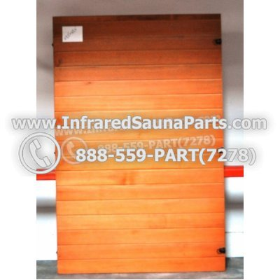 "WOOD SAUNA WALLS - HEMLOCK WOOD SAUNA PANEL ( 69.5"" x 45.4"" ) L 1"