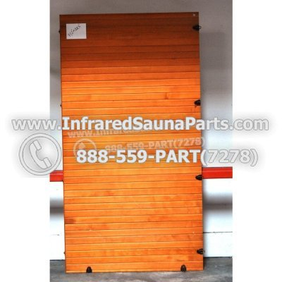"WOOD SAUNA WALLS - HEMLOCK WOOD SAUNA PANEL ( 71.2"" x 38.3"" ) 1"
