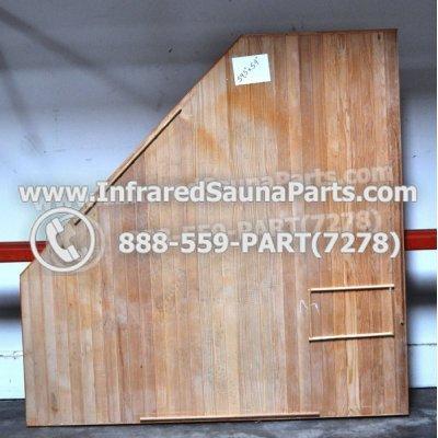 """WOOD SAUNA FLOORS - HEMLOCK WOOD CORNER SAUNA FLOOR ( 59.5"""" x 59"""" ) 1"""