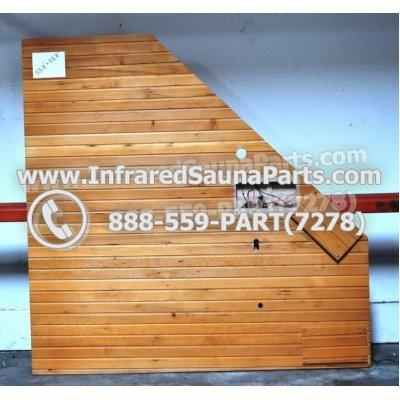 "WOOD SAUNA ROOF - HEMLOCK WOOD CORNER SAUNA ROOF ( 55.8"" x 55.8"" ) 1"