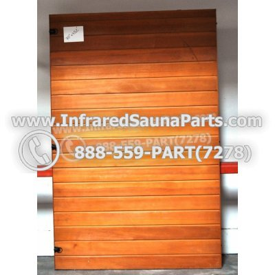 "WOOD SAUNA WALLS - HEMLOCK WOOD SAUNA PANEL ( 70"" x 45.2"" ) 1"