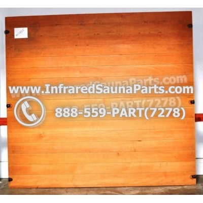"WOOD SAUNA WALLS - HEMLOCK WOOD SAUNA PANEL ( 70"" x 75.5"" ) 1"