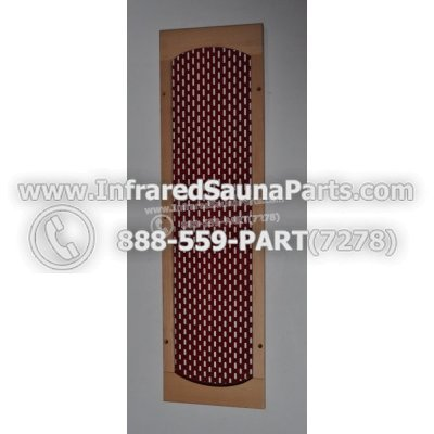 WOOD HEATER COVERS - HEMLOCK WOOD STYLE 4 HEATER COVER IN RED 1