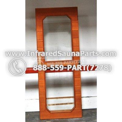 """WOOD DOORS + GLASS DOORS - HEMLOCK WOOD DOOR ( 61"""" x 23.2"""" ) 1"""