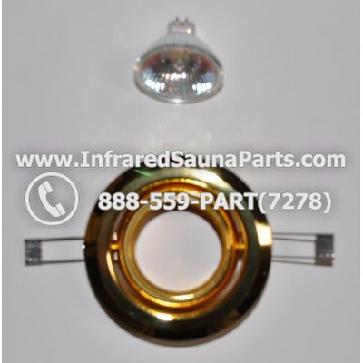 COMPLETE LIGHT ASSEMBLY 12V - COMPLETE LIGHT ASSEMBLY 1 HOUSING IN GOLD FINISH WITH 1 BULB 12V 1