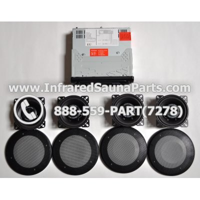 COMPLETE STEREO + SPEAKERS + COVERS - COMPLETE STEREO SYSTEM YKAMFG A-6150M WITH 4 SPEAKERS 1