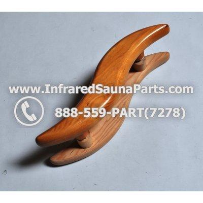WOOD HANDLES + TOWEL HANDLES - HEMLOCK WOOD DOOR HANDLE STYLE 5 1