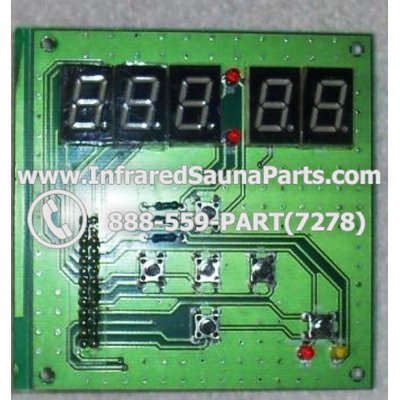CIRCUIT BOARDS / TOUCH PADS - CIRCUIT BOARD  TOUCHPAD  WATERSTAR INFRARED SAUNA 06S064 1