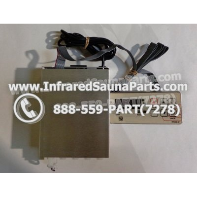 COMPLETE CONTROL POWER BOX WITH CONTROL PANEL - COMPLETE CONTROL POWER BOX  SOFTHEAT INFRARED SAUNA WITH CONTROL PANEL 1