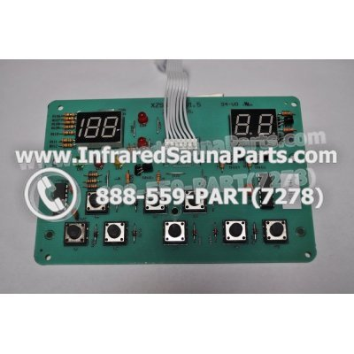CIRCUIT BOARDS / TOUCH PADS - CIRCUIT BOARD  TOUCHPAD  HOTWIND INFRARED SAUNA XZSN1DB V1.5 1