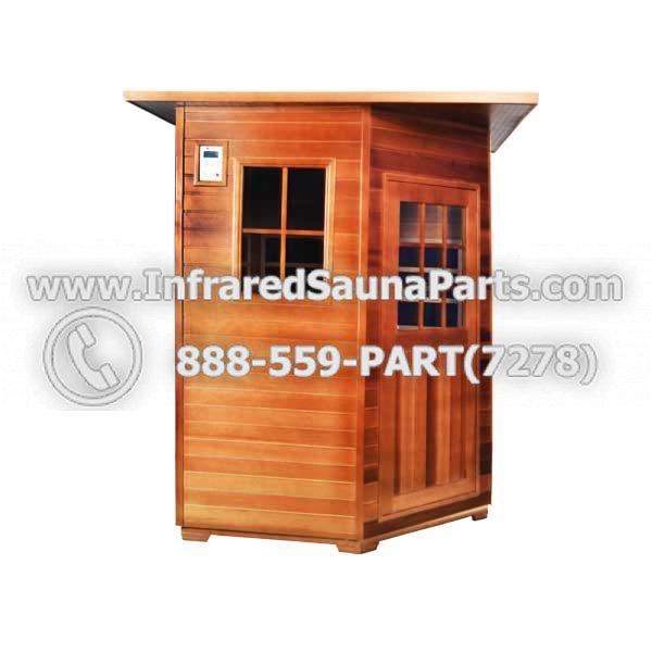 Pre-Made Infrared Sauna Kits :: Sierra Outdoor Infrared Sauna :: 4